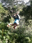 Yep, that's me ziplining upside down over a Nicaraguan jungle. Such a rush!